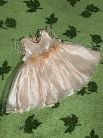 Платье 9-12 мес