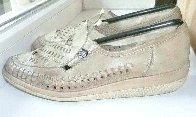 Натуральные кожаные туфли-мокасины California на низком ходу