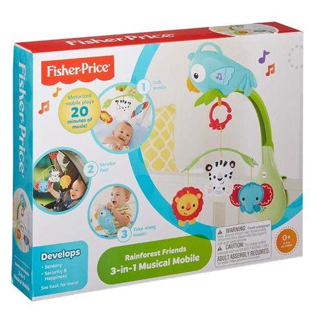Мобиль Веселый попугай 3 в 1 Fisher-Price