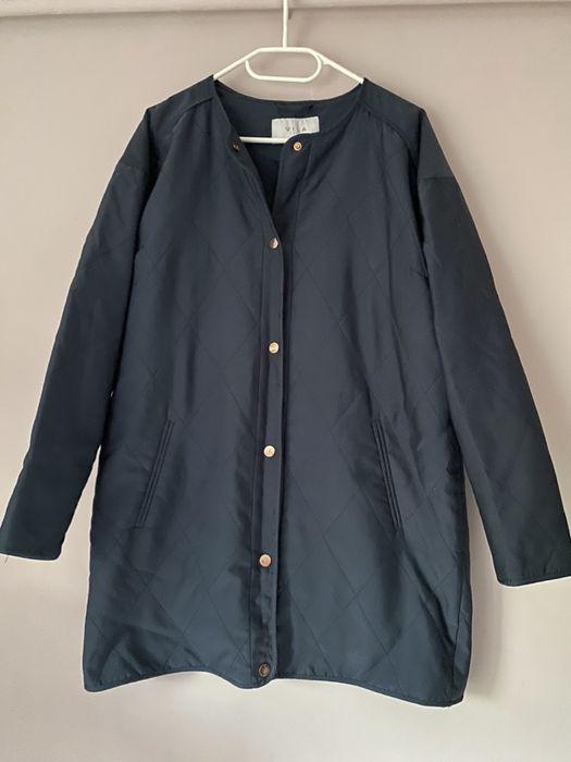 Granatowa niebieska naby blue kurtka pikowana płaszczyk Vila 38 M Jugowice - image 1