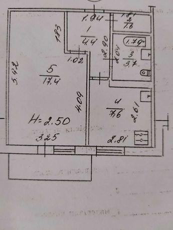 """1к квартира """"чешське"""" планування, простора кухня!"""