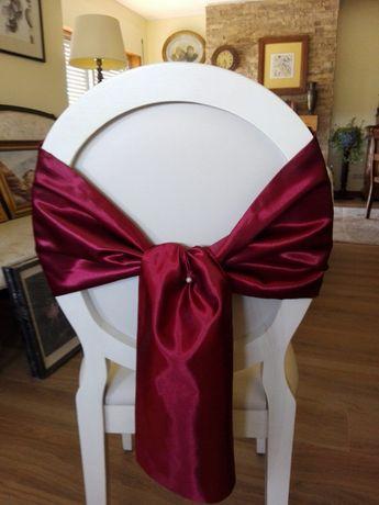 Laços/Enfeite decorativo cadeiras - Bordô (casamentos)