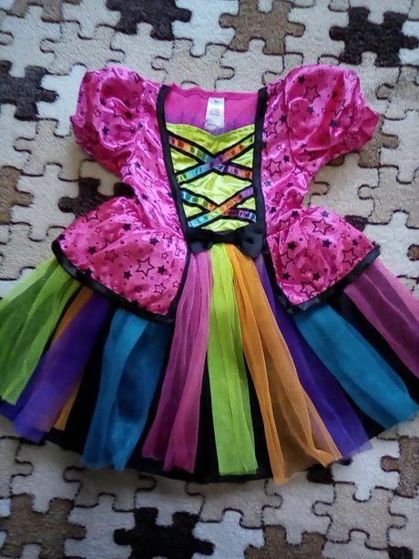 Нарядное платье принцессы на 1-2года (80-92см) идеальное состояние