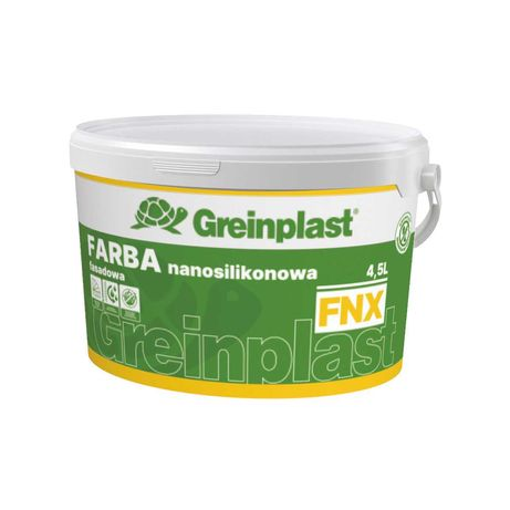 GREINPLAST FNX Farba Fasadowa Nanosilikonowa 10l