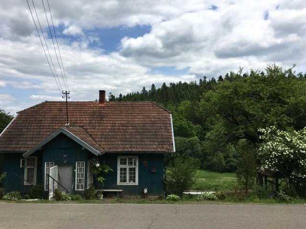 Całoroczny dom z sadem owocowym na skraju lasu