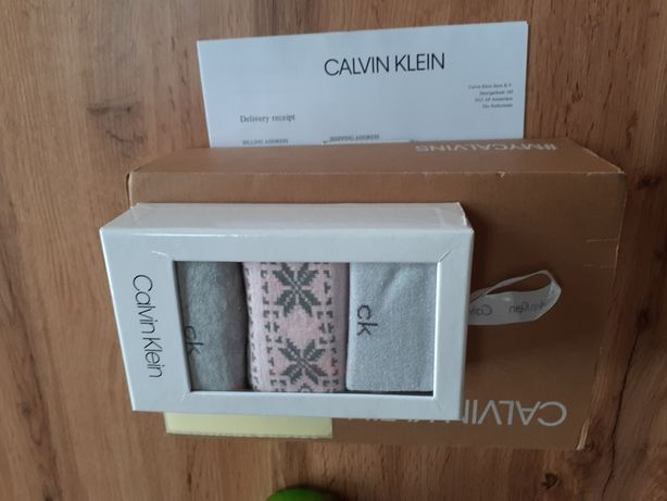 Calvin Klein,Okazja! 3-pary skarpet damskich 100% oryginalne!