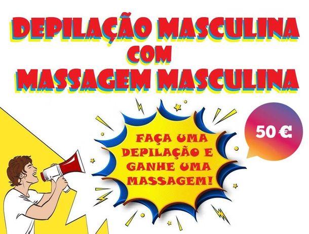 Depilação Masculina com Massagem ao domicílio