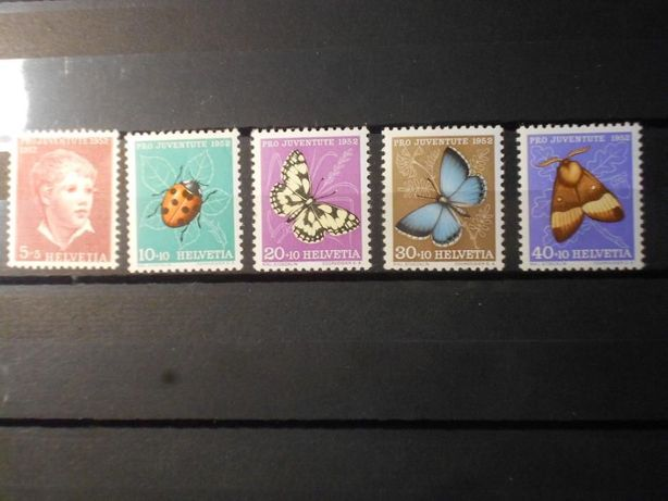 Znaczki pocztowe - Szwajcaria-owady ,Pro Juventute-52r