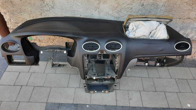Deska Rozdzielcza Kokpit Ford Focus MK2 USZKODZONA!