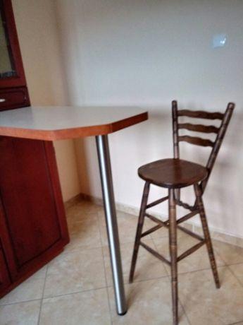 Krzesła barowe hokery 2 sztuki (komplet) jak nowe