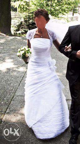 PROMOCJA !! Suknia ślubna + bolerko koronkowe