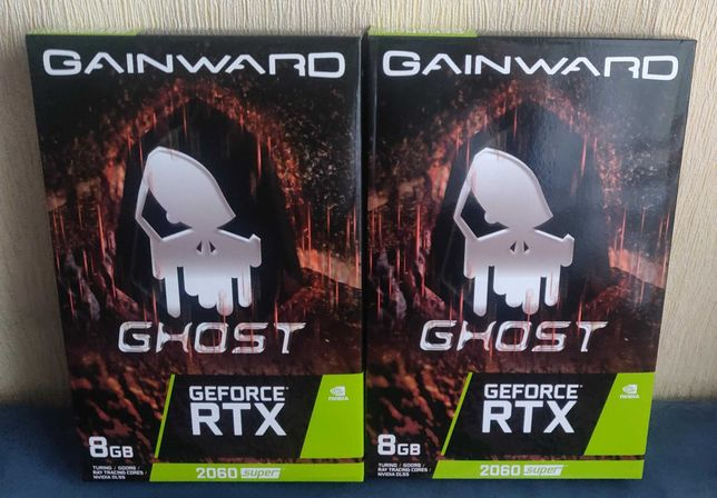 2x Gainward GeForce RTX 2060 SUPER Ghost / nowe zaplombowane