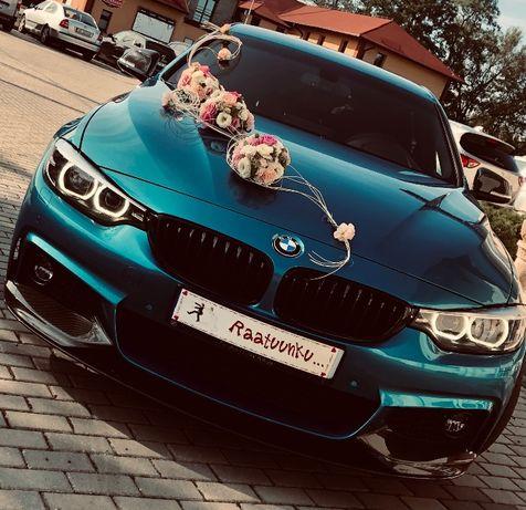 Auto do ślubu, wesele BMW 430i M-performance Katowice, Bielsko, Żywiec
