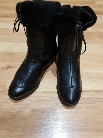 Ботинки,пооусапожки жін,шкіра,зима,37р