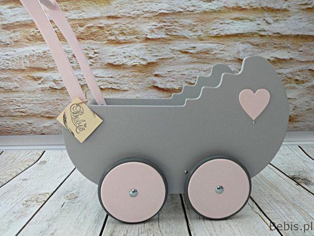 """Drewniany wózek dla lalek """"Retro"""" - Promocja !!!"""