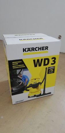 Odkurzacz Karcher WD3 przemysłowy Wd 3 17L 1000W