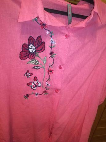 Koszula z ręcznym haftem
