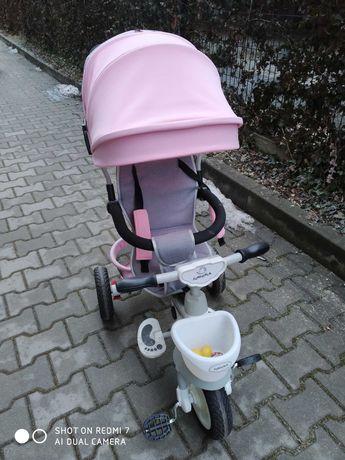 rowerek trójkołowy firmy Junioria - różowy