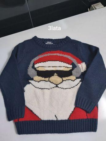 Świąteczny sweter z Mikołajem 3vlata 98-104