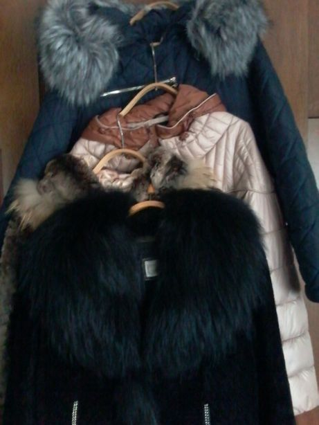 Пуховик, полушубок, меховая куртка 48р