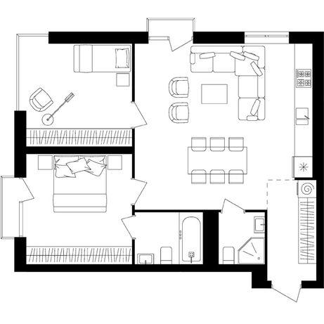 Продається 2-х кімнатна квартира Avalon up