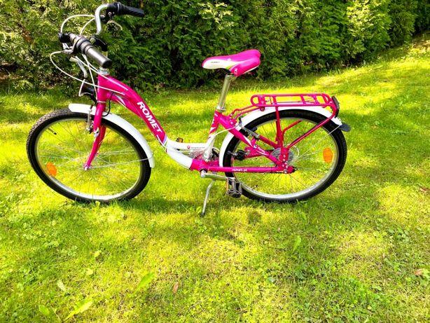 """ROMET PANDA CITY Rower dla dziewczynki 14"""" Biało różowy"""