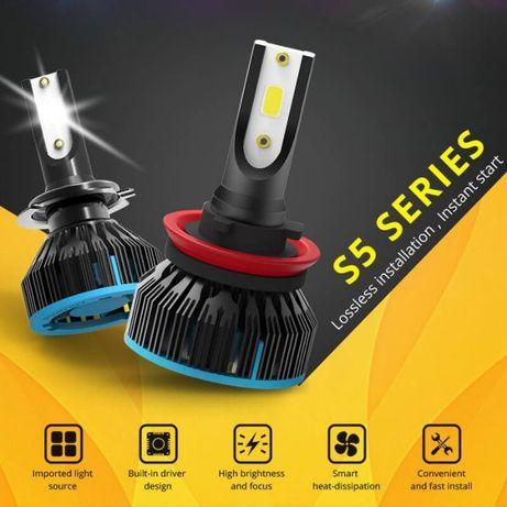 S5 H1 LED диодные автомобильные ЛЕД лампы H4 H7 ксенон лампочки свет