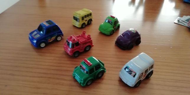 Conjunto de 7 carros