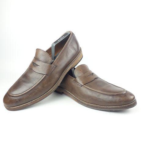 LAMBRETTA meskie skórzane buty rozm 44 mokasyny lords derby Oxford
