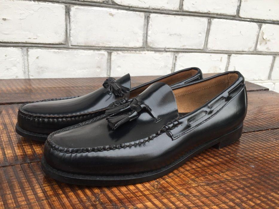 Мужские туфли BASS кожаные новые Американские макасины Броды - изображение 1