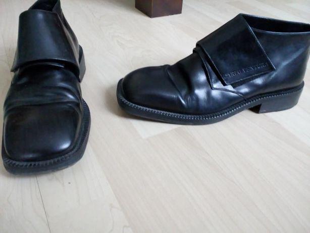włoskie skórzane buty męskie do kostki rozmiar 42