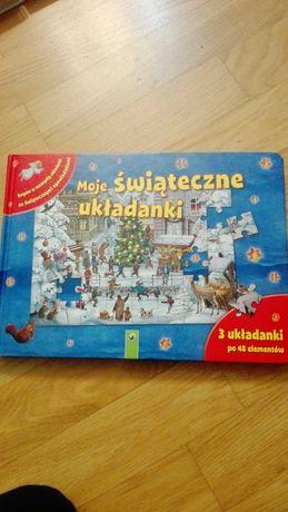Puzzle w książce - Świąteczne układanki dla dzieci 3x48 el.