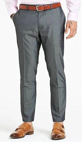 Spodnie Garniturowe szare Williams&Brown 40 oraz 42 Nowe