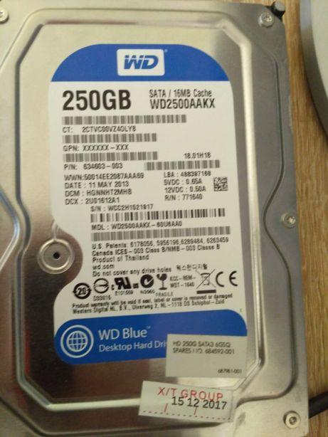 """Жесткий диск HDD 3.5"""" 250gb sata3 проверен! Бэдов нет!"""