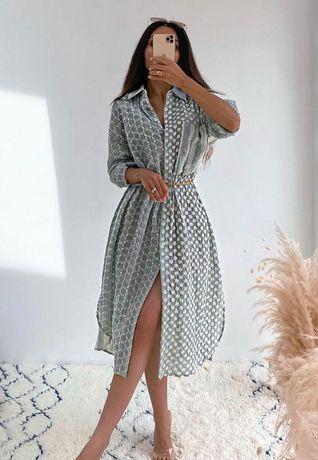 Sukienka ażurowa z haftem Zara 36 s