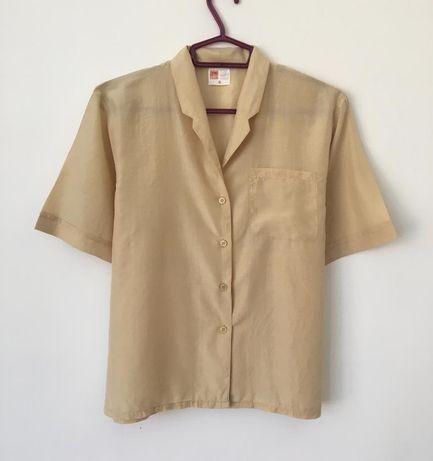 Лёгкая шёлковая блуза рубашка оверсайз