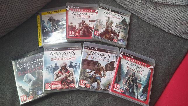 Saga Assassin's Creed na Playstation 3 PS3 wszystkie w jezyku polskim