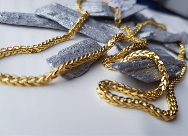 ZNAKOMITY złoty łańcuszek LISI OGON pr. 585 PEREŁKA!