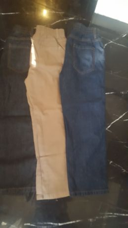 3 pary nowych spodni dla chłopca  134