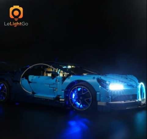 luzes LED para lego Bugatti - novo, portes grátis, carro NÃO incluído