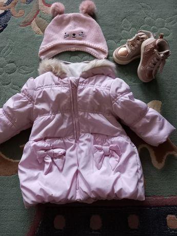 Продам курточку на девочку, ботинки и шапку H&M