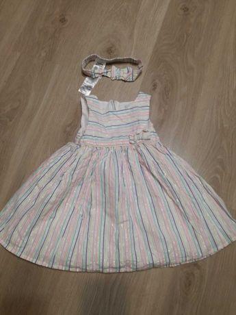 Sukienka na lato na ramiączkach dla dziewczynki, Cool Club, rozm. 86