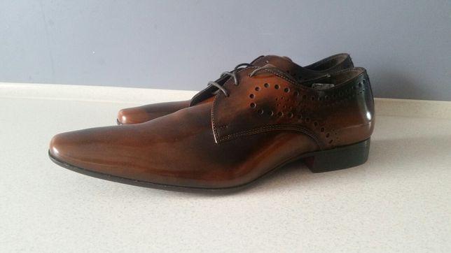 Eleganckie Nowe buty Włoskie LAVORATE A MANO rozmiar 44