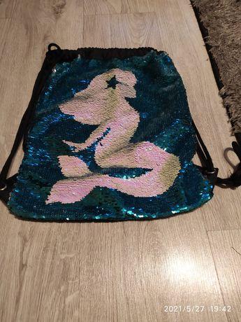 Worek- plecak dziewczęcy