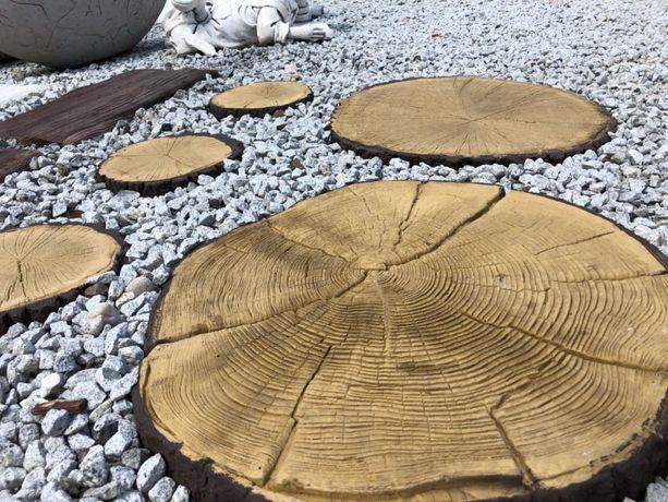 Krążki drewniane, krążki betonowe, ścieżki ogrodowe, kamień Namysłów