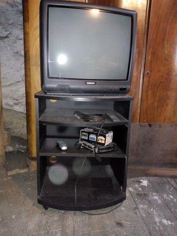 Szafka pod telewizor z szybą czarna