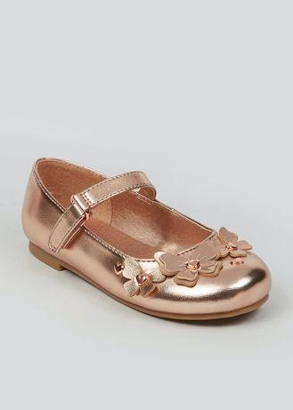 Золотые туфли Matalan (США) 29 размер (UK 11) 1500 руб