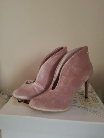 CARINI buty botki szpilki 38 NEGOCJUJ CENĘ
