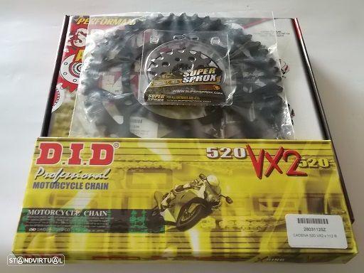 Kit Transmissao com corrente DID X-Ring dourada MT-03 de 2006 a 2012
