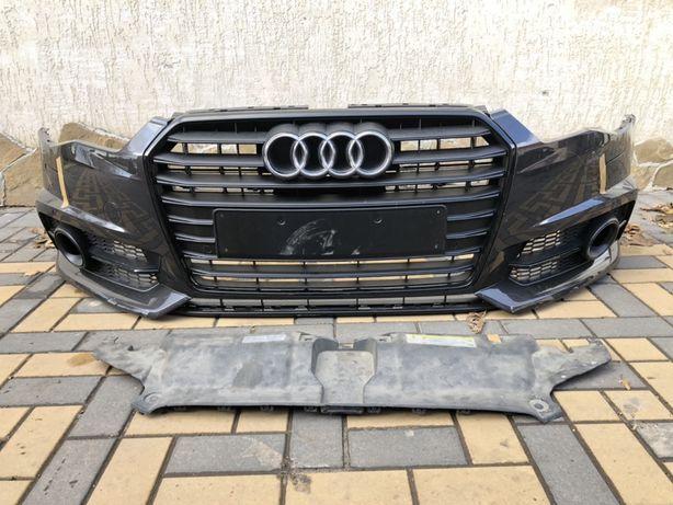 Бампер передний Audi a6 c7 s line 2014- рестайлинг.Комплектний